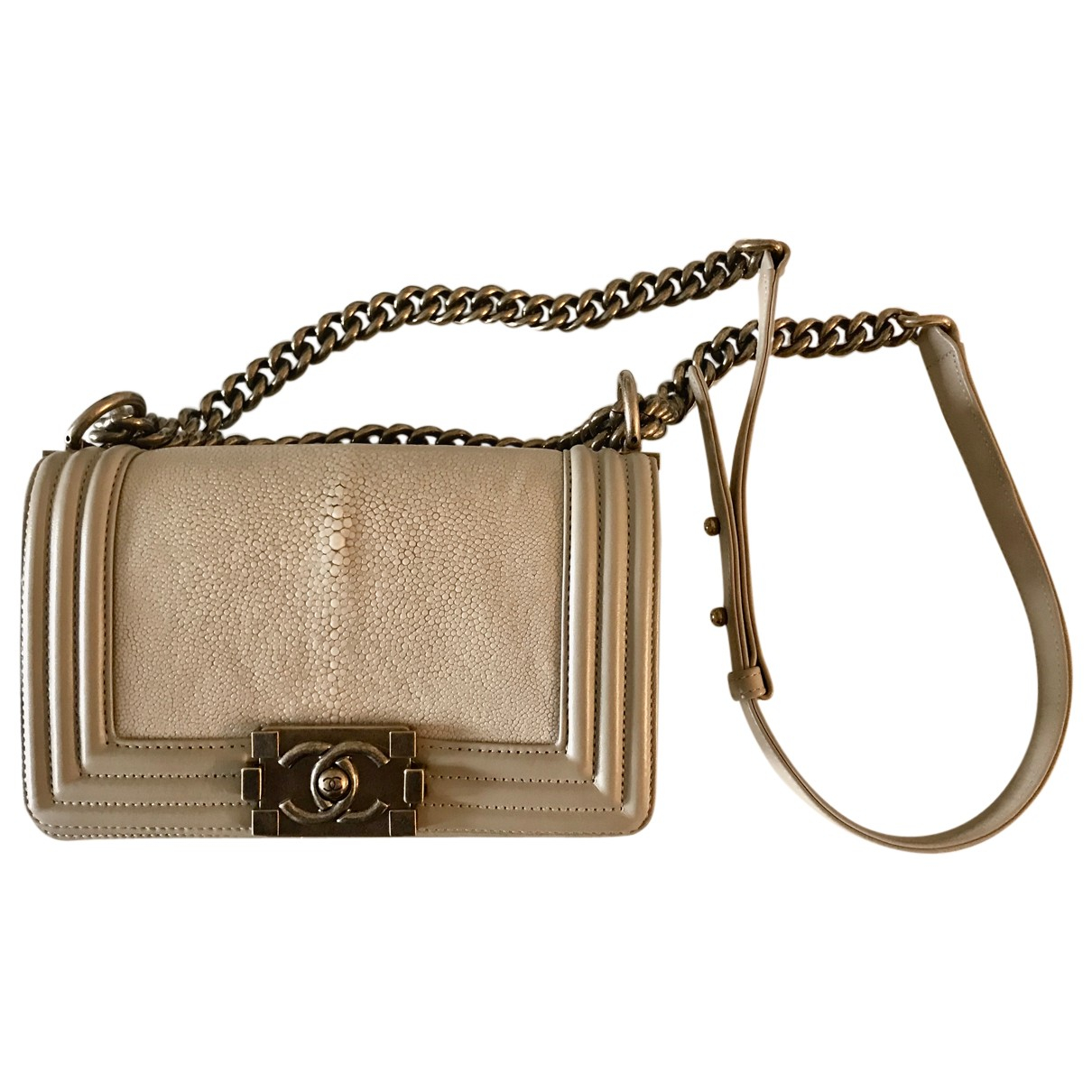 Chanel Boy Beige Exotic leathers handbag for Women N