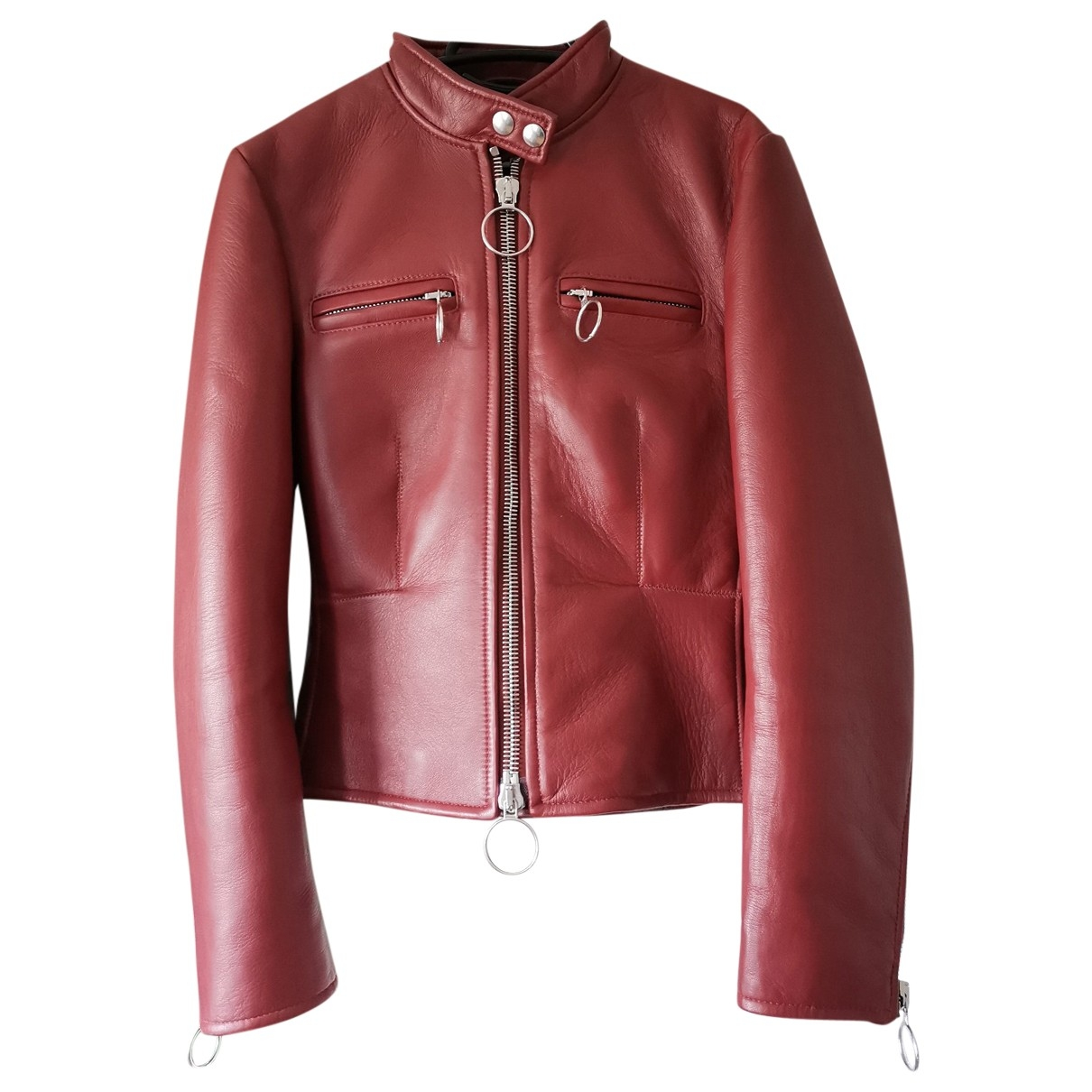 Acne Studios \N Red Leather Leather jacket for Women 36 FR
