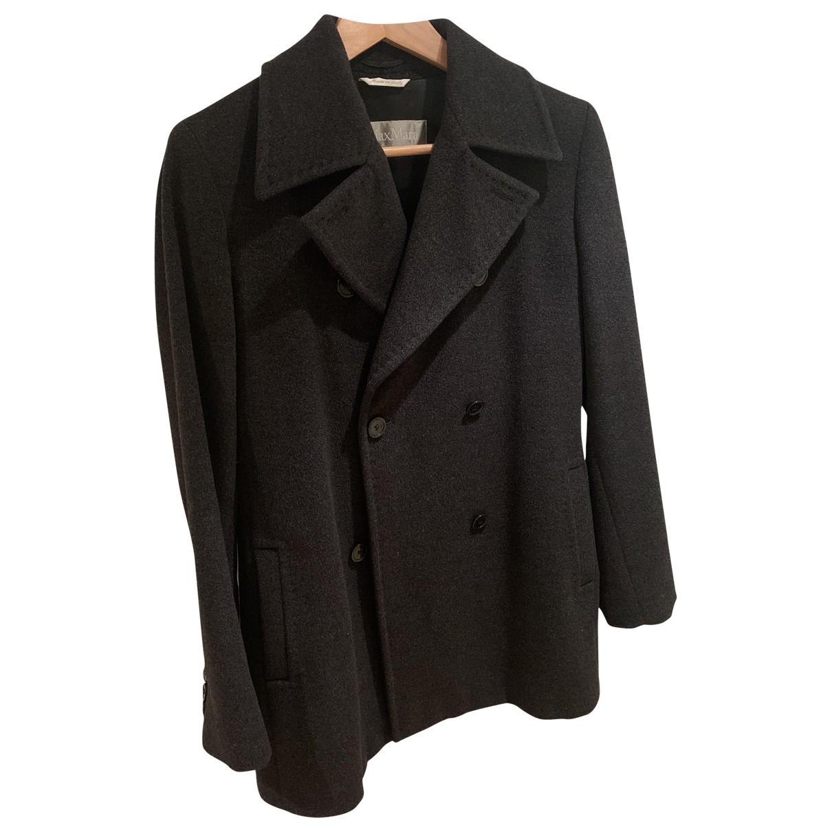 Max Mara \N Anthracite Wool coat for Women 42 IT