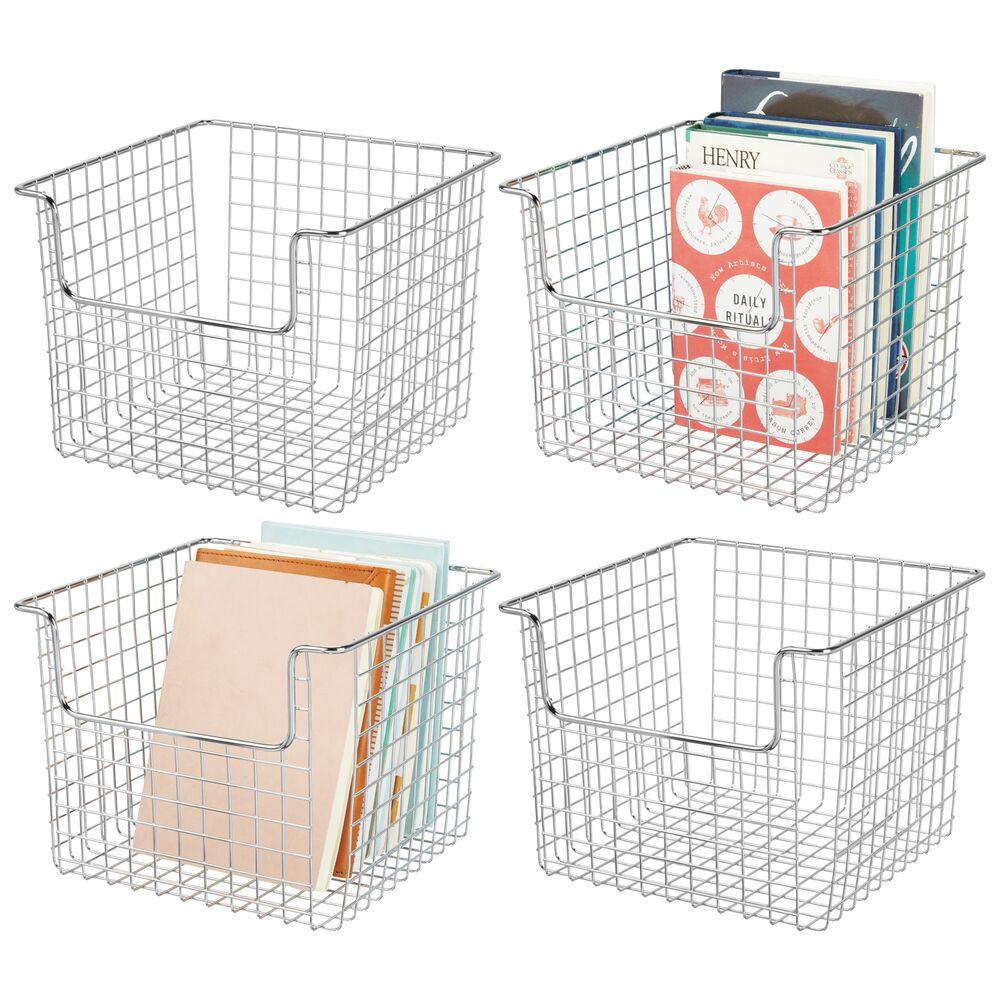 Metal Wire Home Storage BinChrome - 10