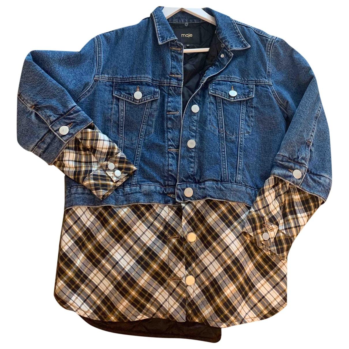 Maje Fall Winter 2019 Blue Denim - Jeans jacket for Women 36 FR