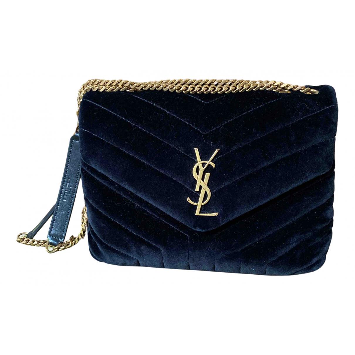 Saint Laurent Loulou Black Velvet handbag for Women N