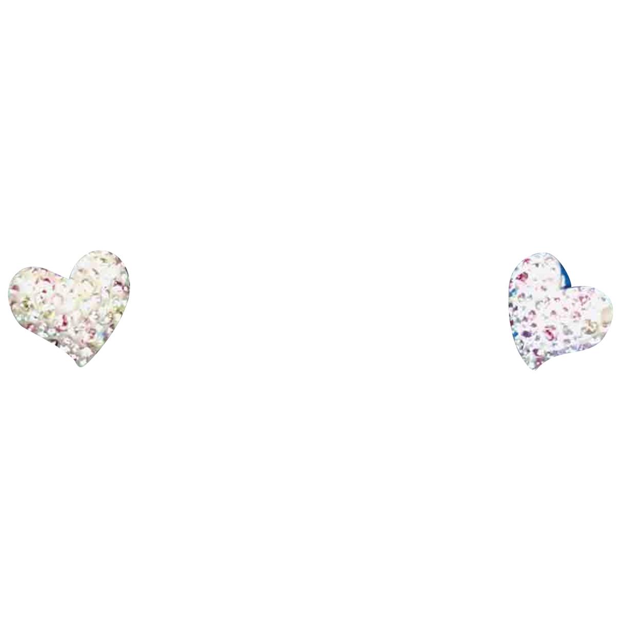 Swarovski \N OhrRing in  Rosa Kristall