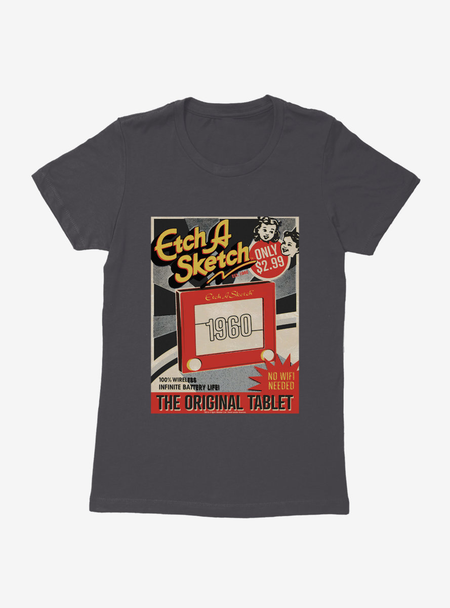 Etch A Sketch The Original Tablet Womens T-shirt