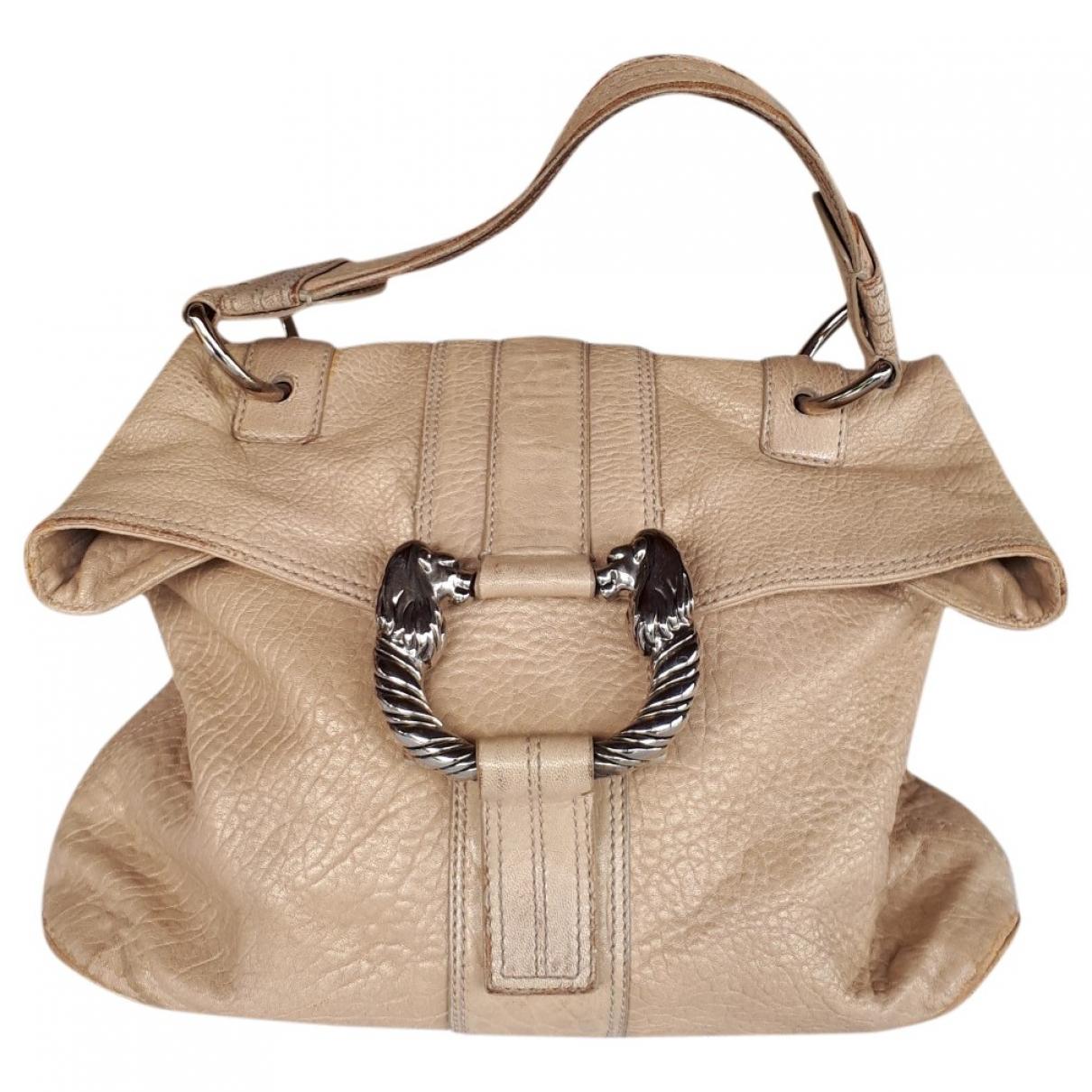 Bvlgari \N Handtasche in  Beige Leder