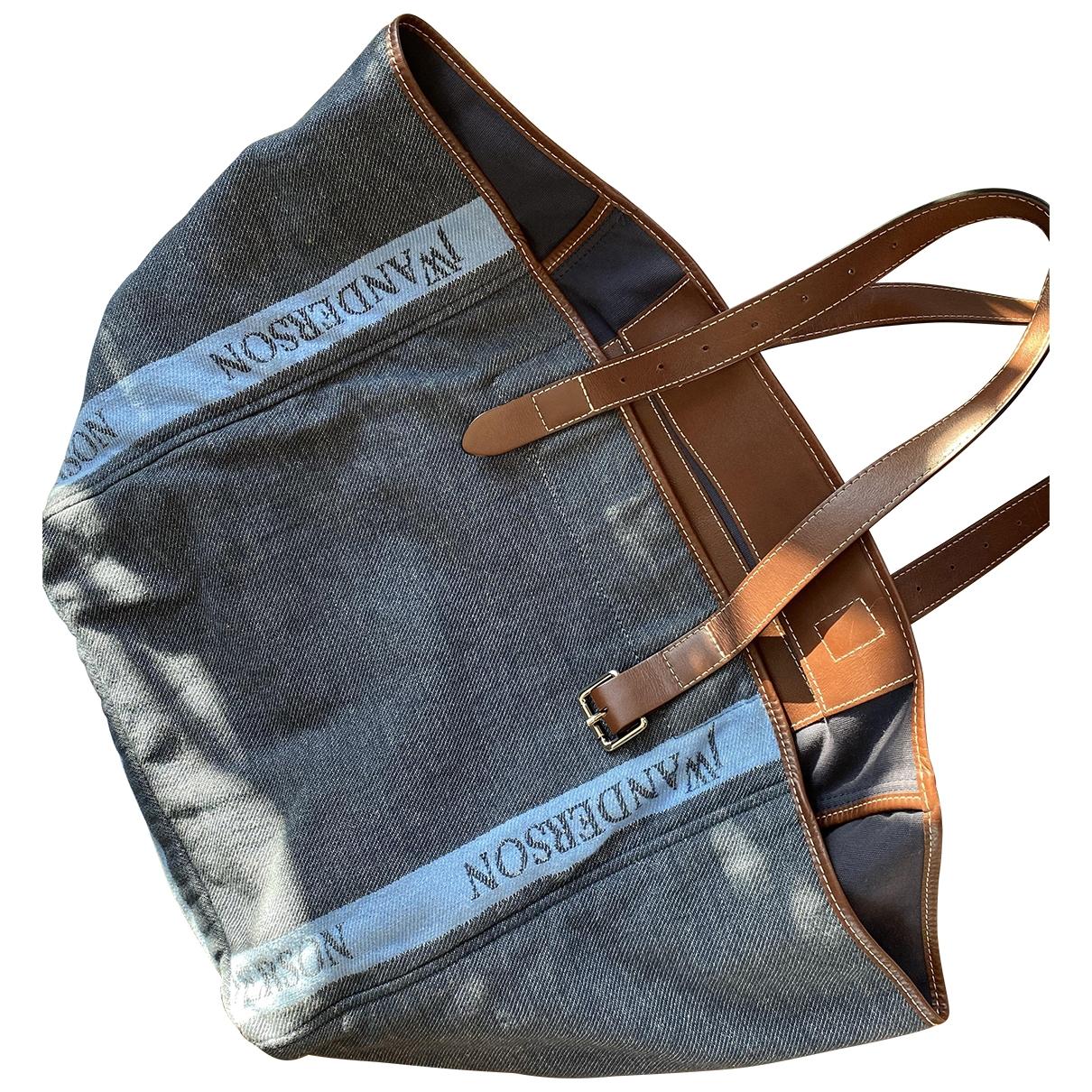 J.w. Anderson \N Handtasche in  Blau Leder