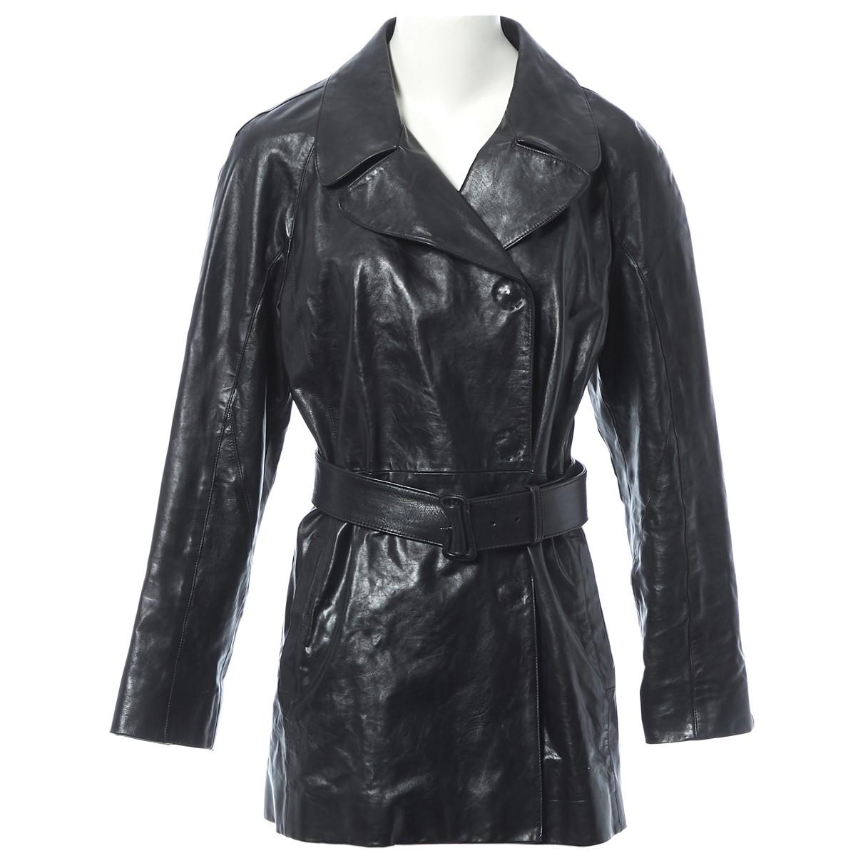 Prada - Veste   pour femme en cuir - noir