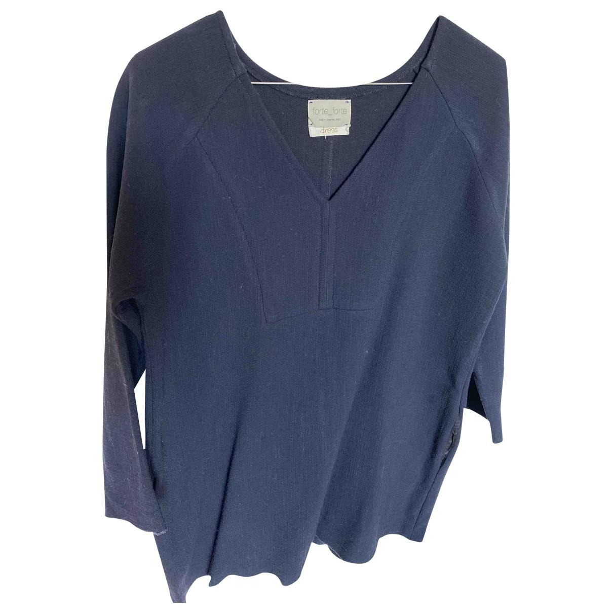 Forte_forte \N Kleid in  Blau Wolle