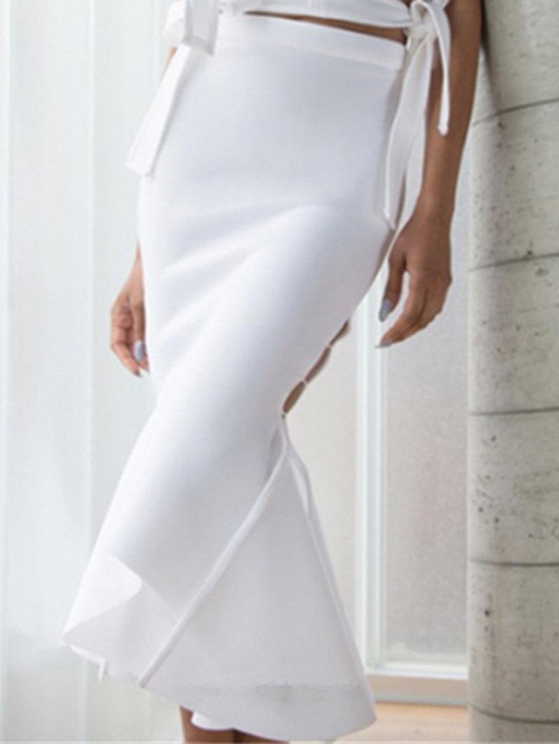 Ericdress Mermaid Mid-Calf Plain Ladylike Skirt
