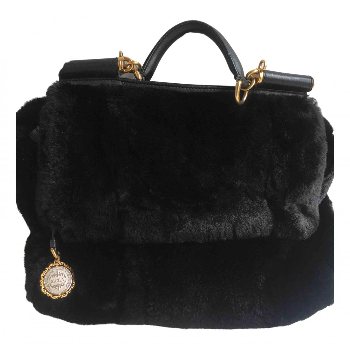 Dolce & Gabbana Sicily Black Fur handbag for Women \N