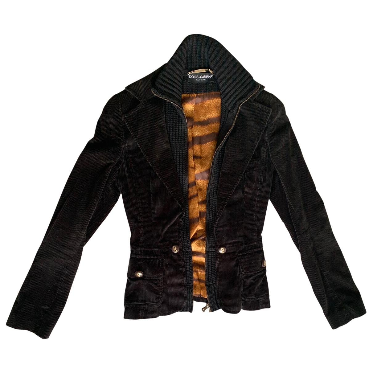Dolce & Gabbana \N Black Velvet jacket for Women 40 IT