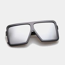 Flat Top Square Frame Sunglasses