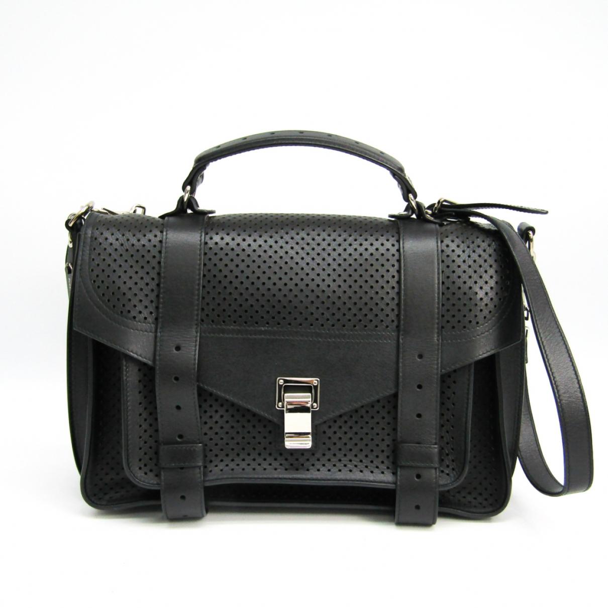 Proenza Schouler \N Black Leather handbag for Women \N
