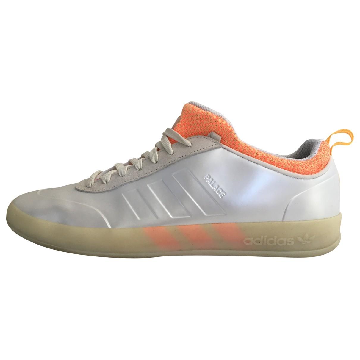 Palace X Adidas - Baskets   pour homme en cuir - ecru