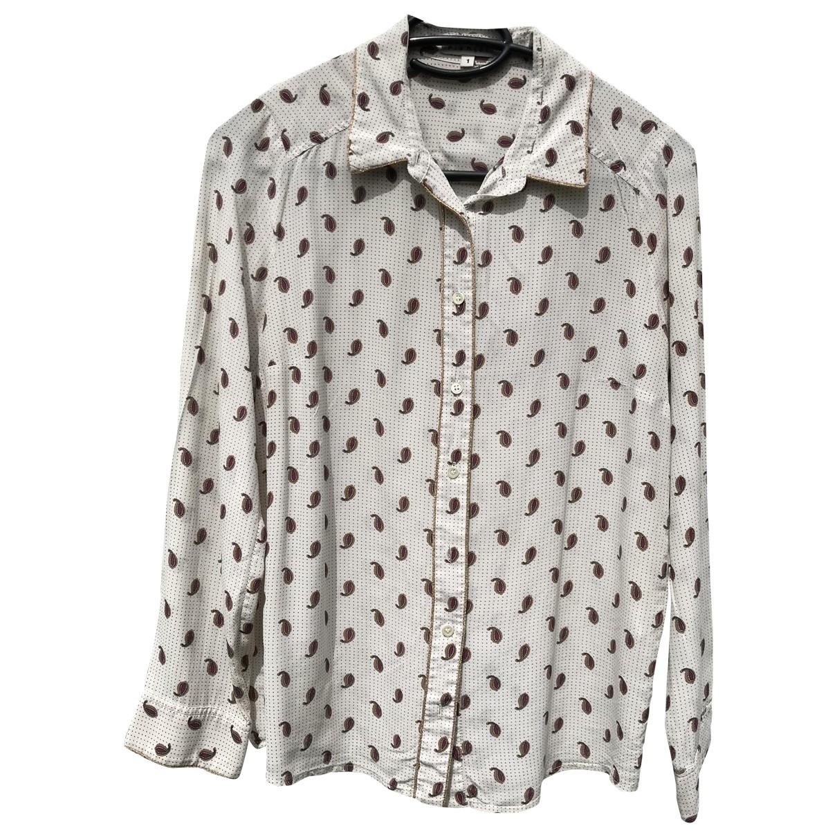Claudie Pierlot \N Beige Silk  top for Women 36 FR