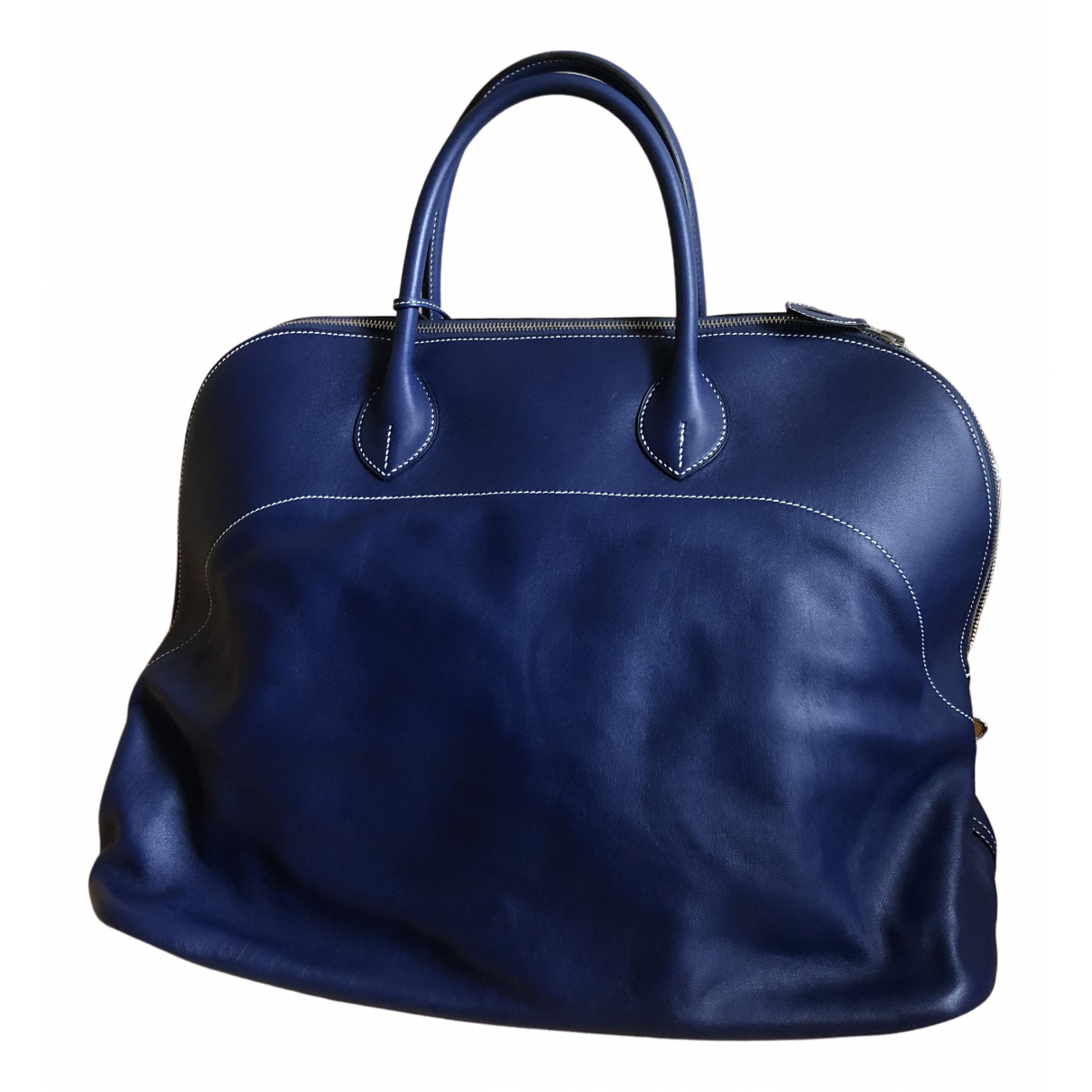 Hermès Bolide Navy Leather Travel bag for Women N