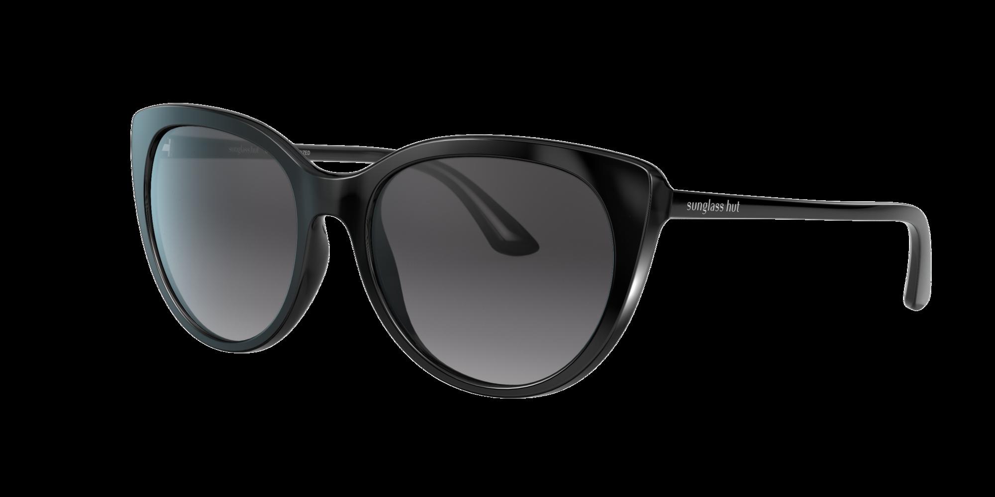 Collection Sunglass Hut Unisex  HU2016 -  Frame color: Noir, Lens color: Gris-Noir, Size FA-LS/140