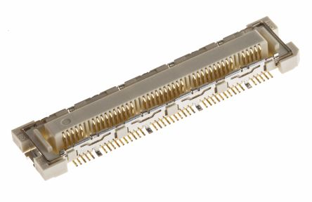 Hirose , FunctionMAX FX10 0.5mm Pitch 8 (Ground), 80 (Signal) Way 2 Row Straight PCB Socket, Surface Mount, Solder (5)