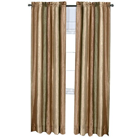 Ombre Light-Filtering Rod-Pocket Single Curtain Panel, One Size , Green