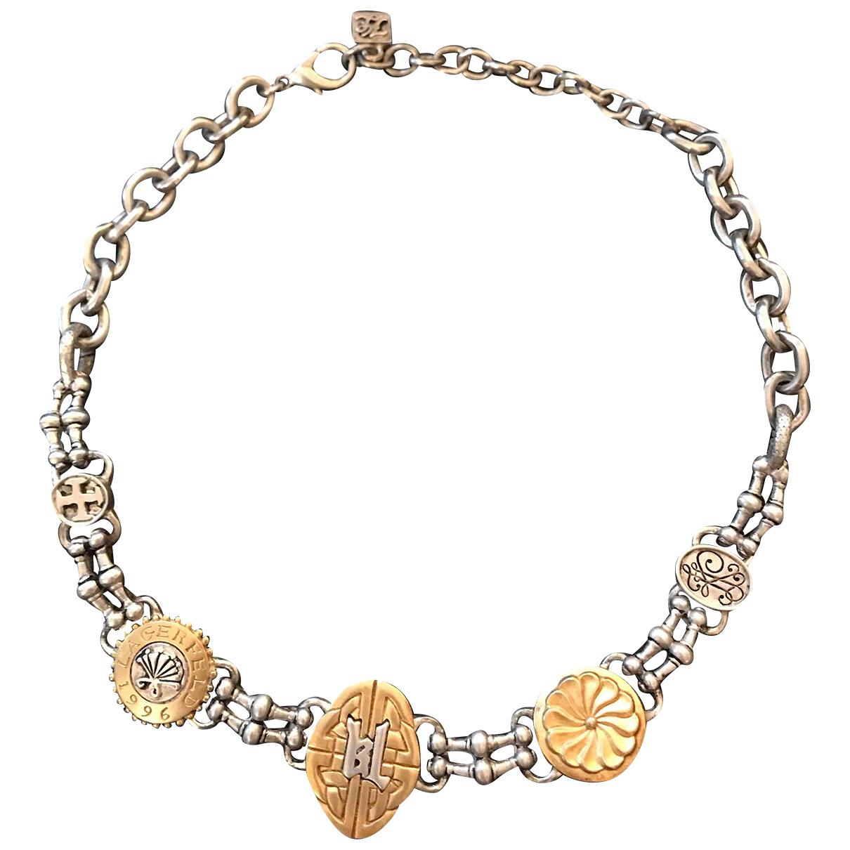 Karl Lagerfeld N Silver Metal necklace for Women N