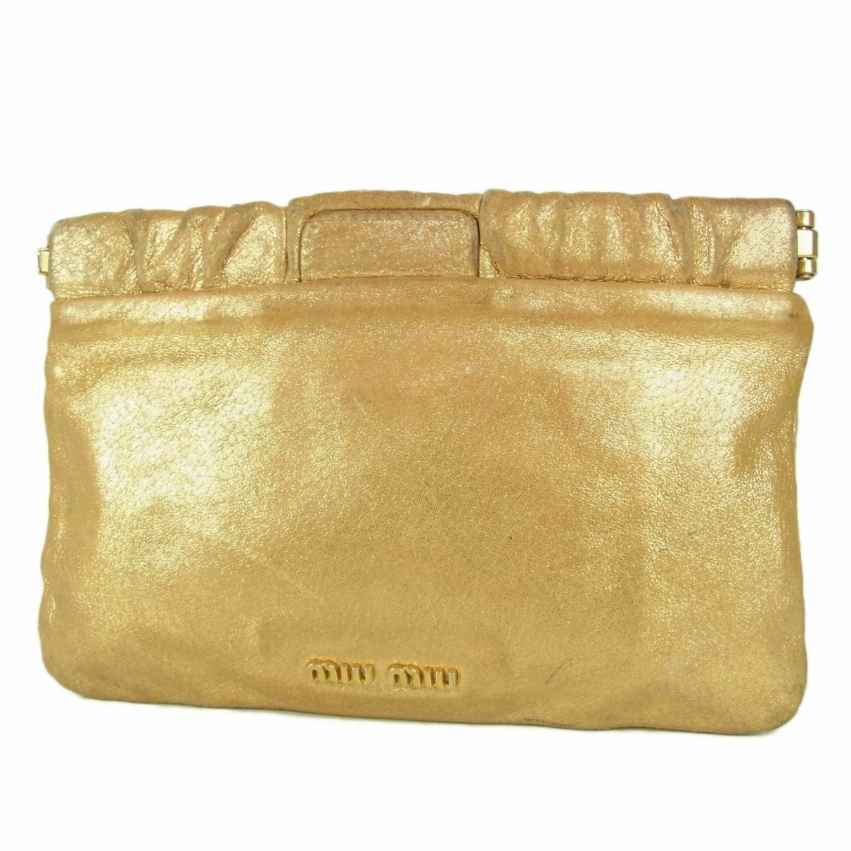Miu Miu \N Gold Leather Purses, wallet & cases for Women \N
