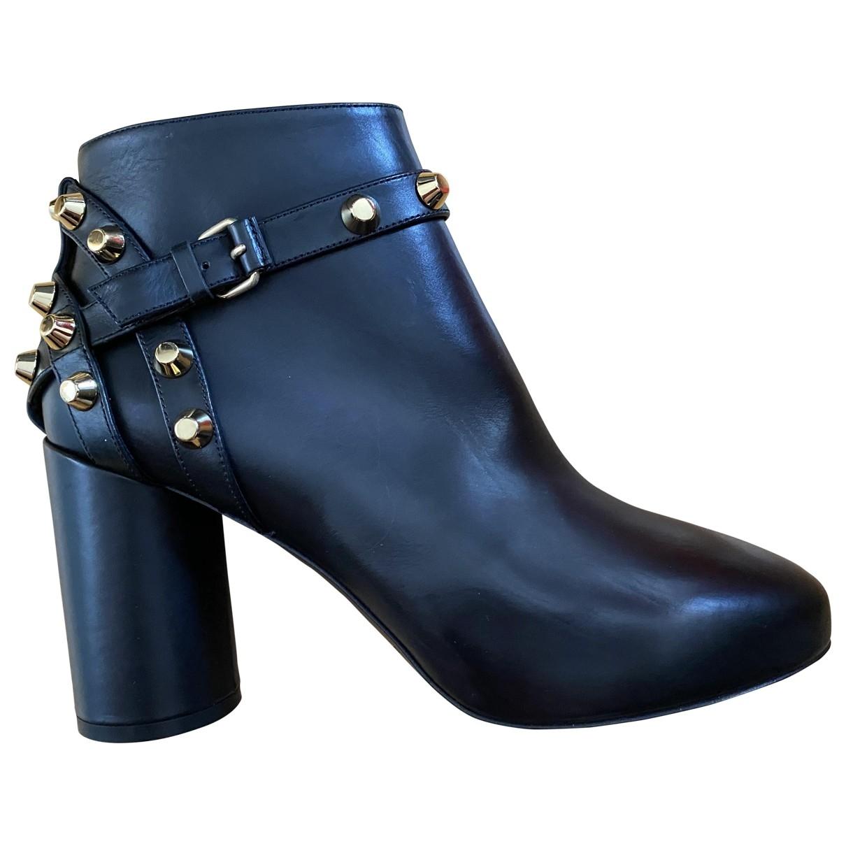 Balenciaga \N Black Leather Ankle boots for Women 36 EU