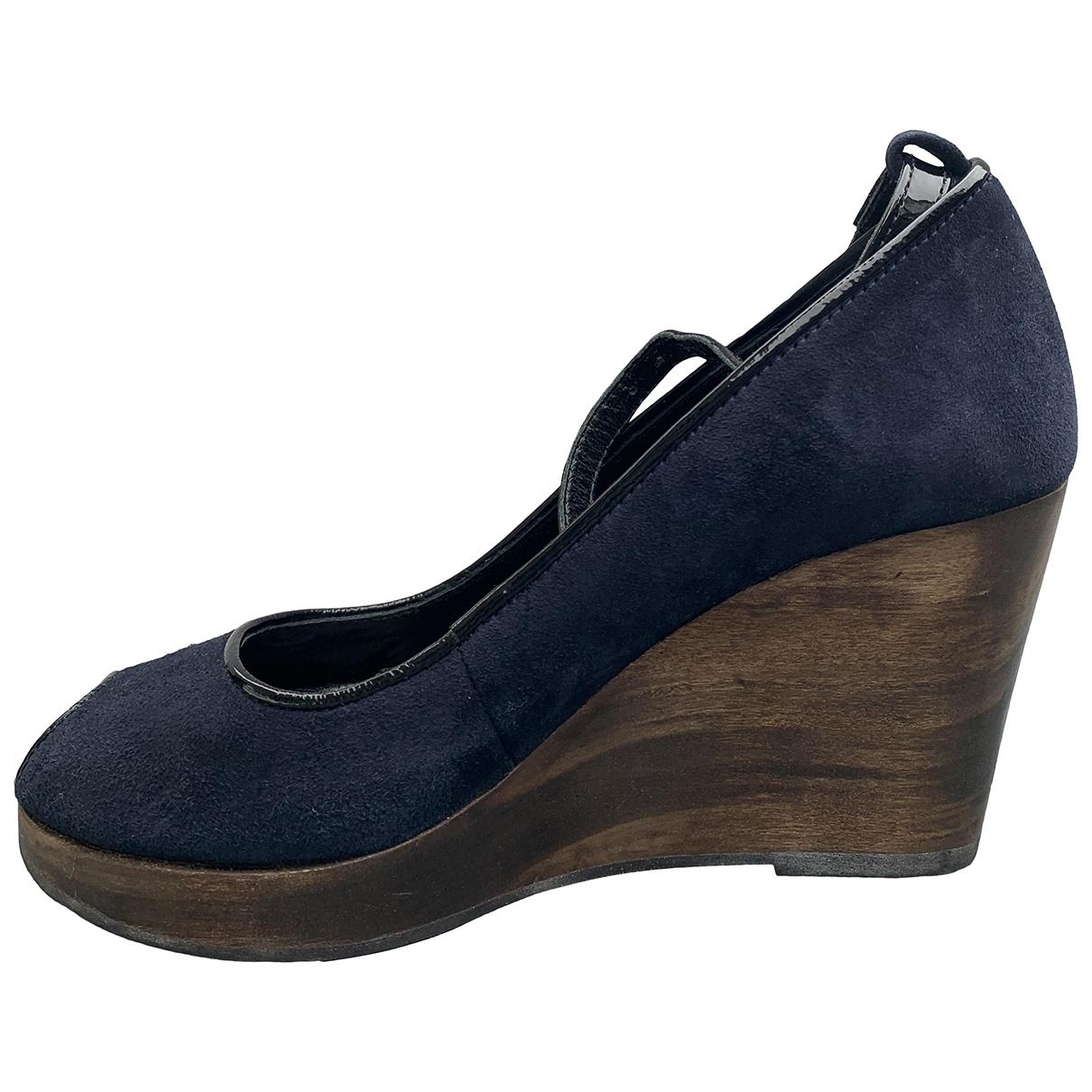 Comptoir Des Cotonniers \N Sandalen in  Blau Leder