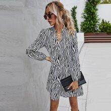 Zebra Striped Tunic Dress