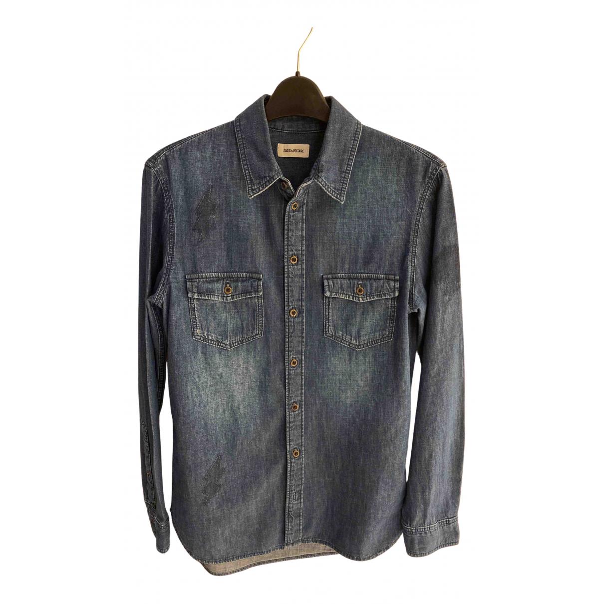 Zadig & Voltaire - Chemises   pour homme en coton - marine
