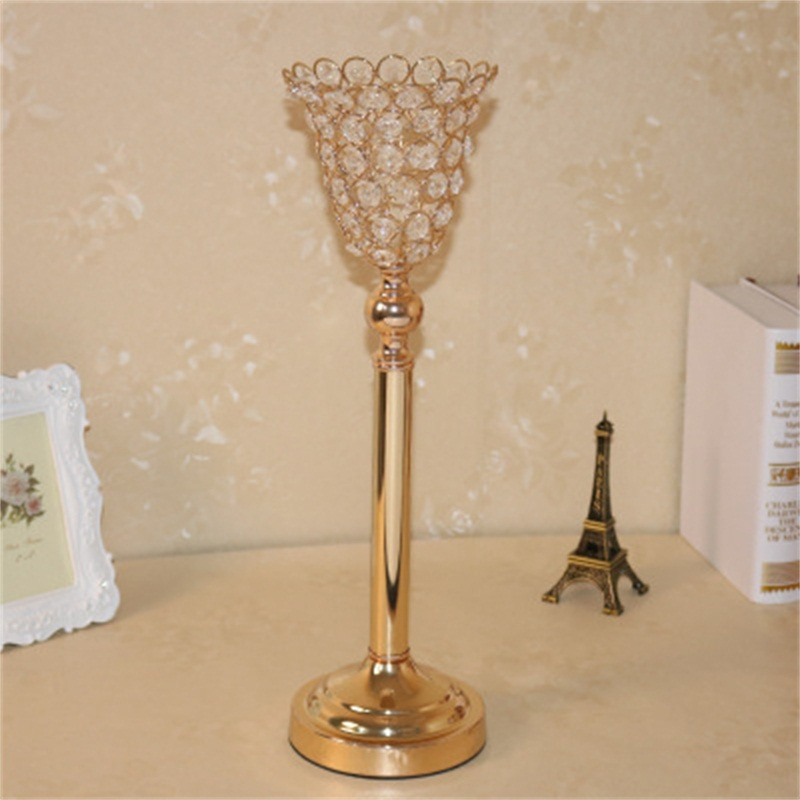 European Style Concise and Modern Hotel and Home Decoration Crystal Candle Holder