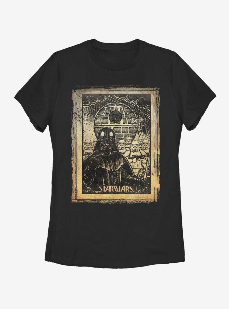 Star Wars Classic Art Print Womens T-Shirt