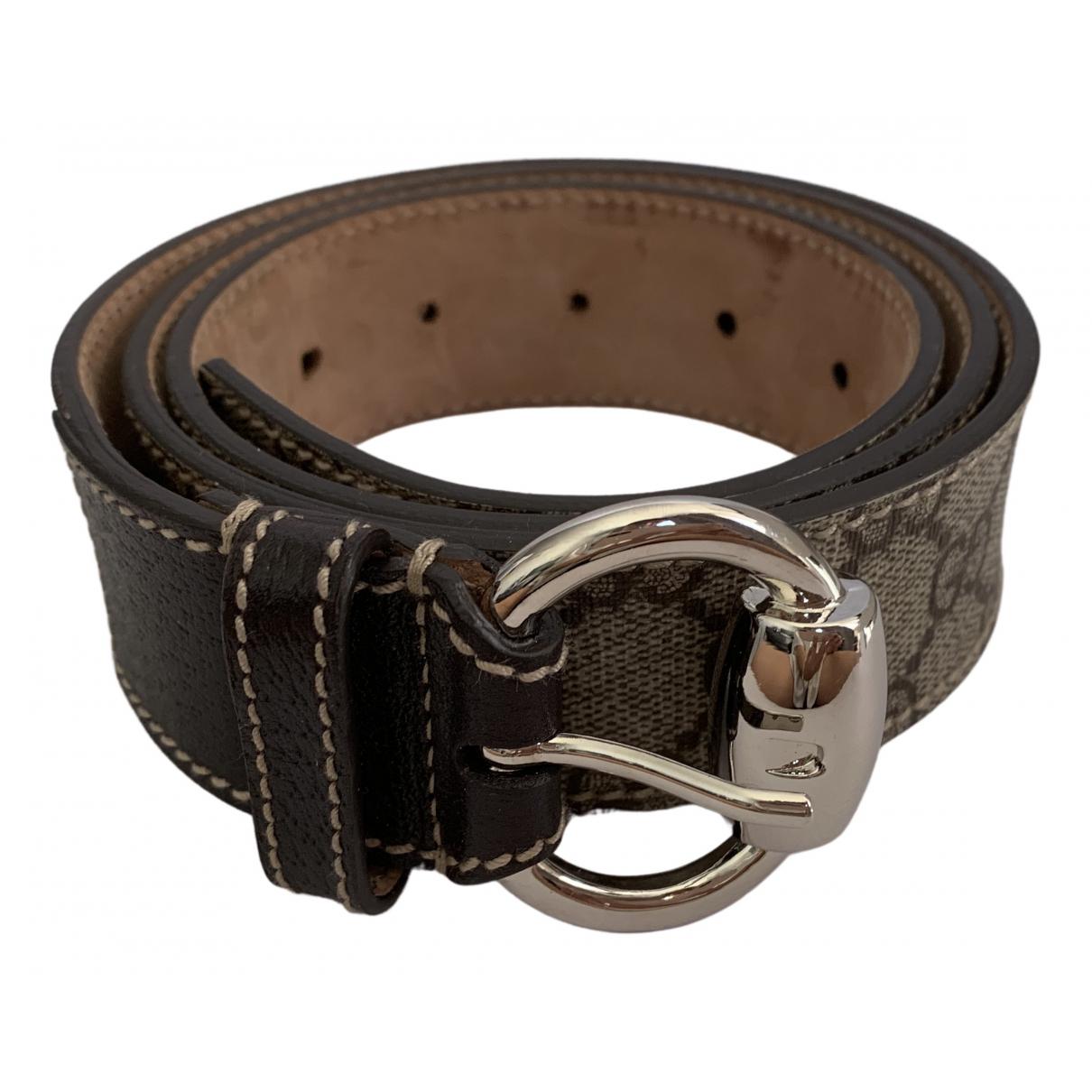 Gucci \N Brown Cloth belt for Women 90 cm