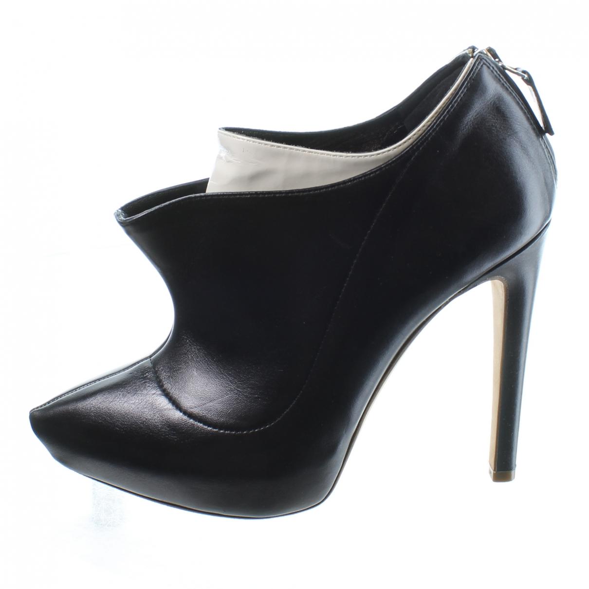 Rupert Sanderson \N Black Leather Ankle boots for Women 35.5 EU