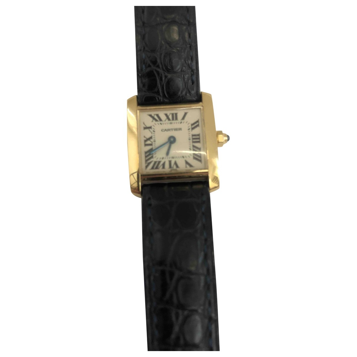 Cartier Tank Francaise Uhr in  Gold Gelbgold