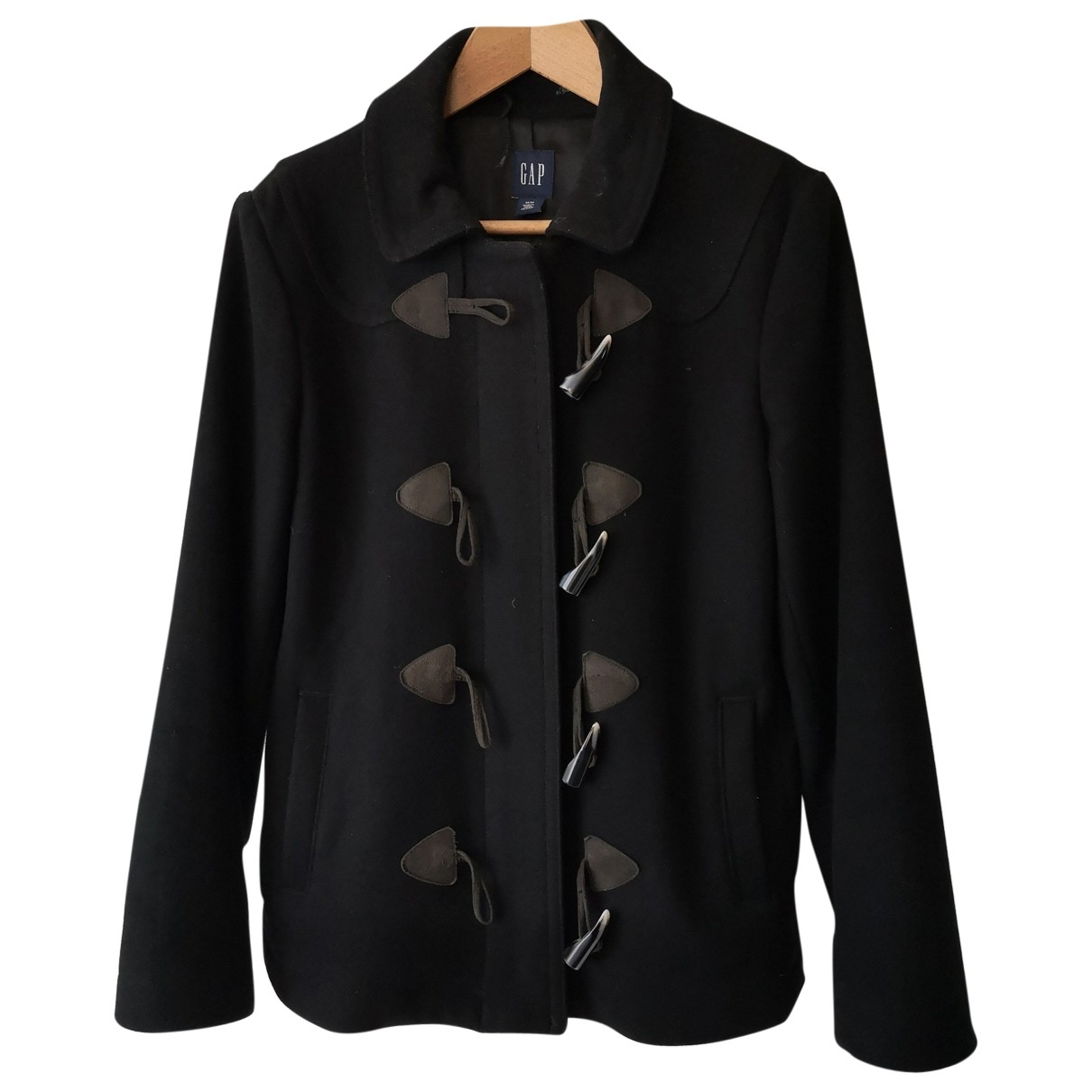 Non Signé / Unsigned \N Black Wool jacket for Women 42 IT