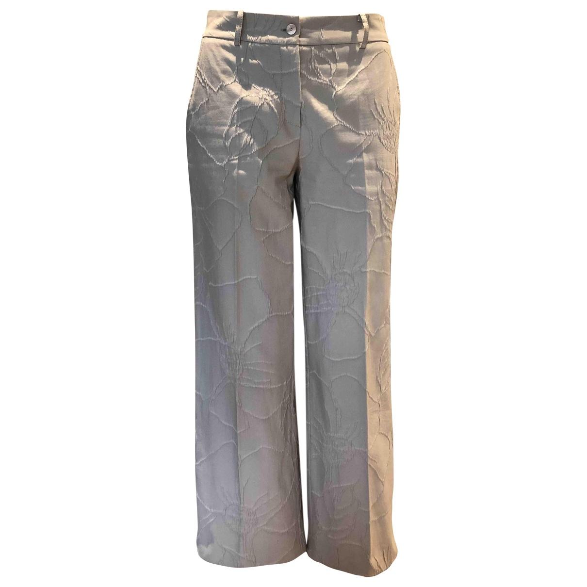 Pantalon en Algodon Crudo Blumarine