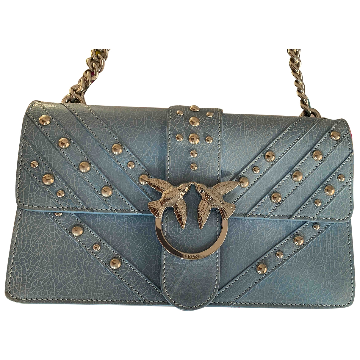 Pinko \N Turquoise Leather handbag for Women \N