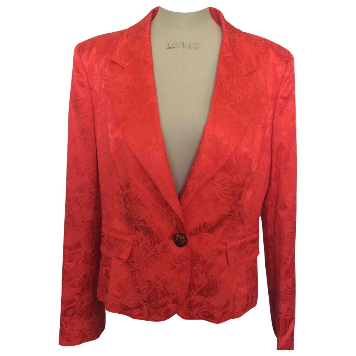 Just Cavalli \N Jacke in  Rot Baumwolle