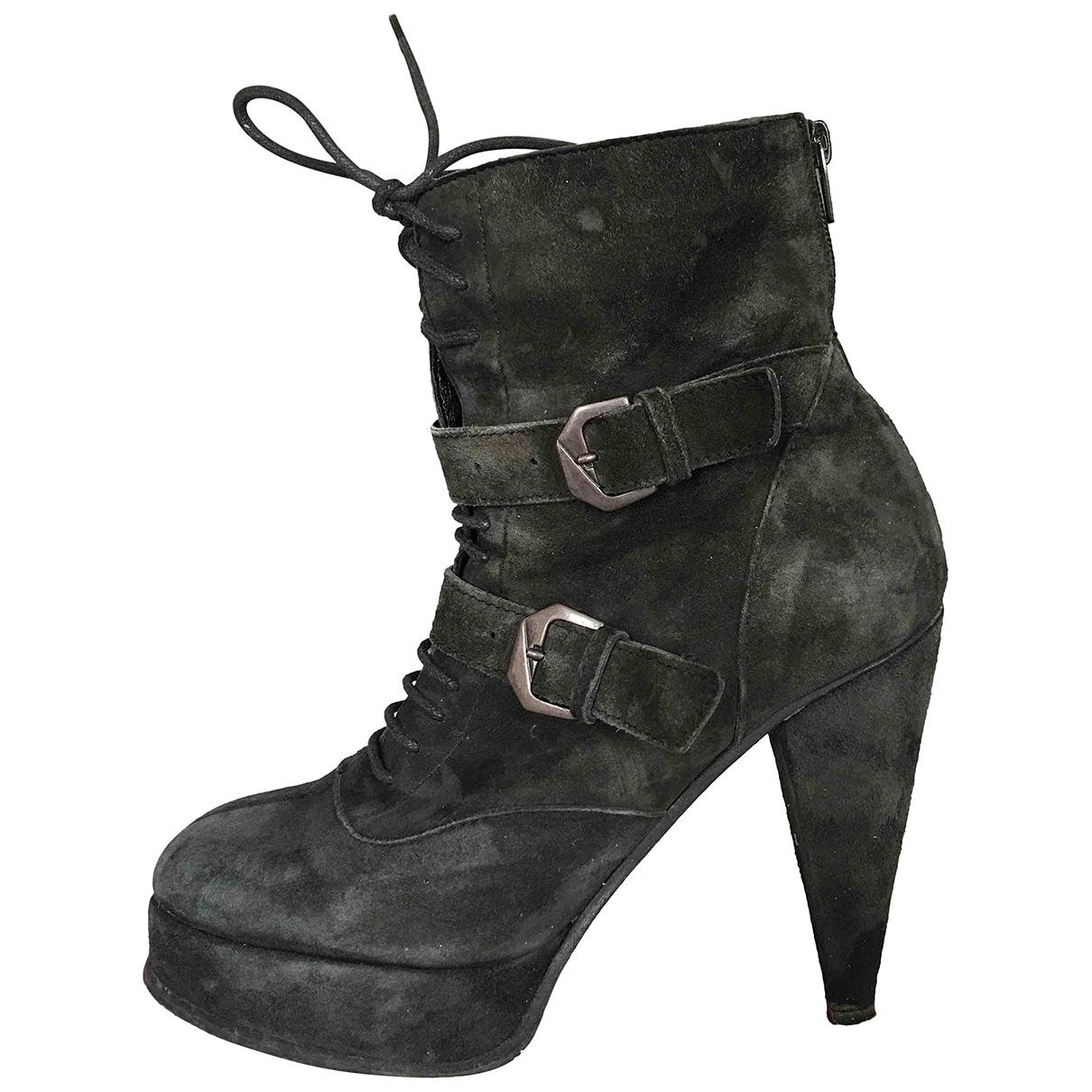 The Kooples - Boots   pour femme en suede - noir
