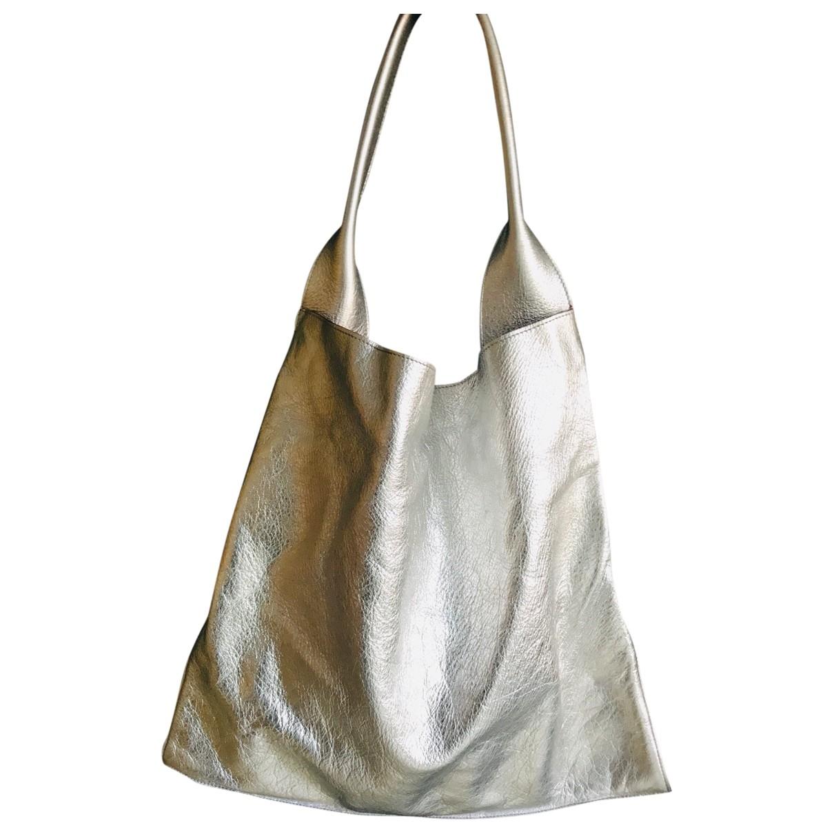 Celine \N Silver Leather handbag for Women \N