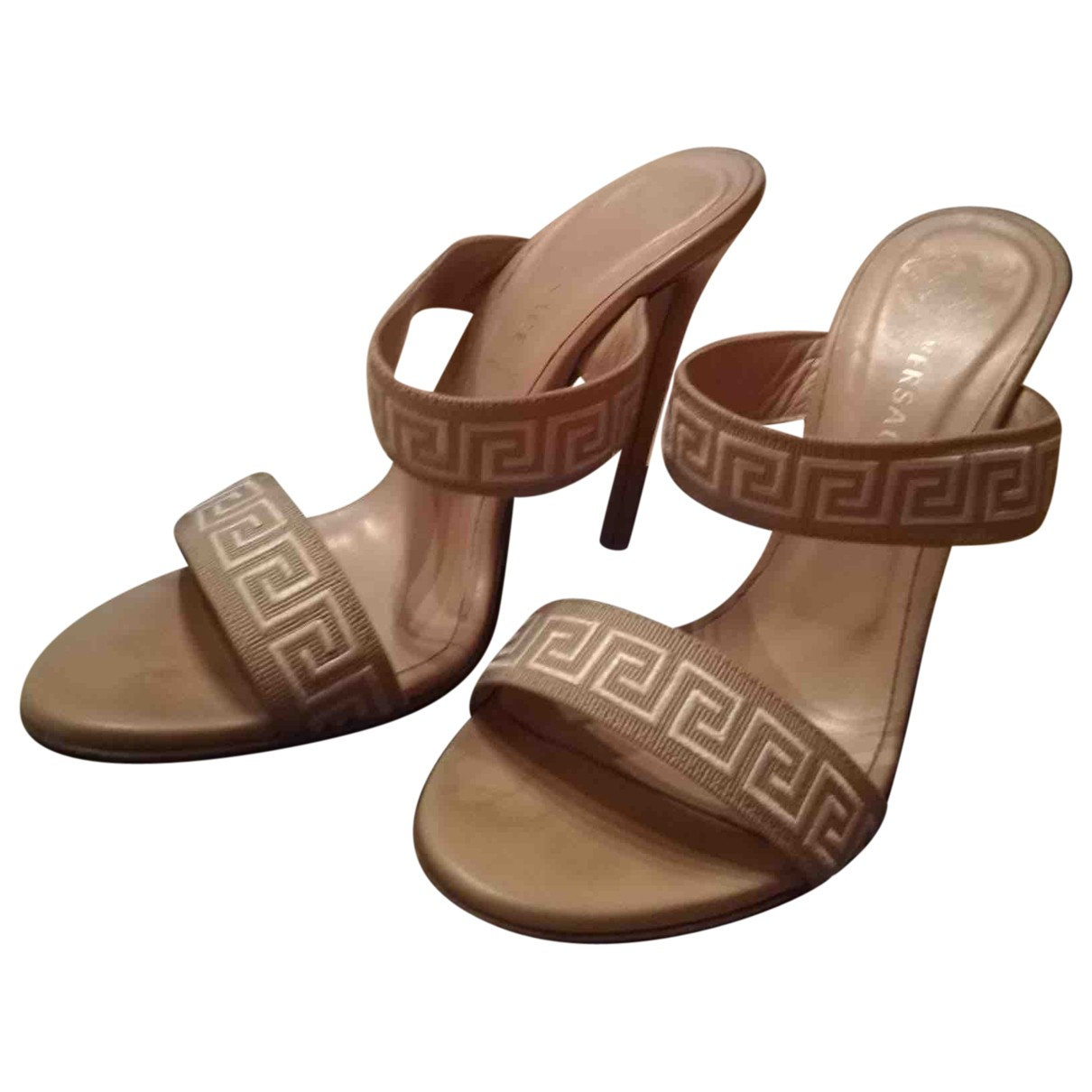 Versace \N Sandalen in  Beige Leder