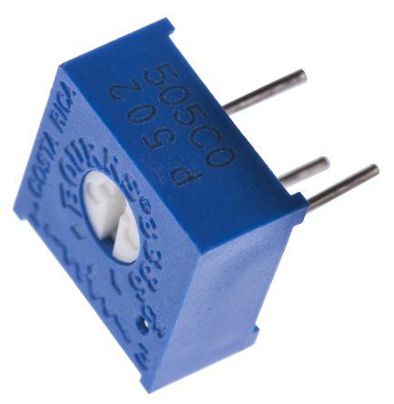 Bourns 5kΩ, Through Hole Trimmer Potentiometer 0.5W Top Adjust , 3386