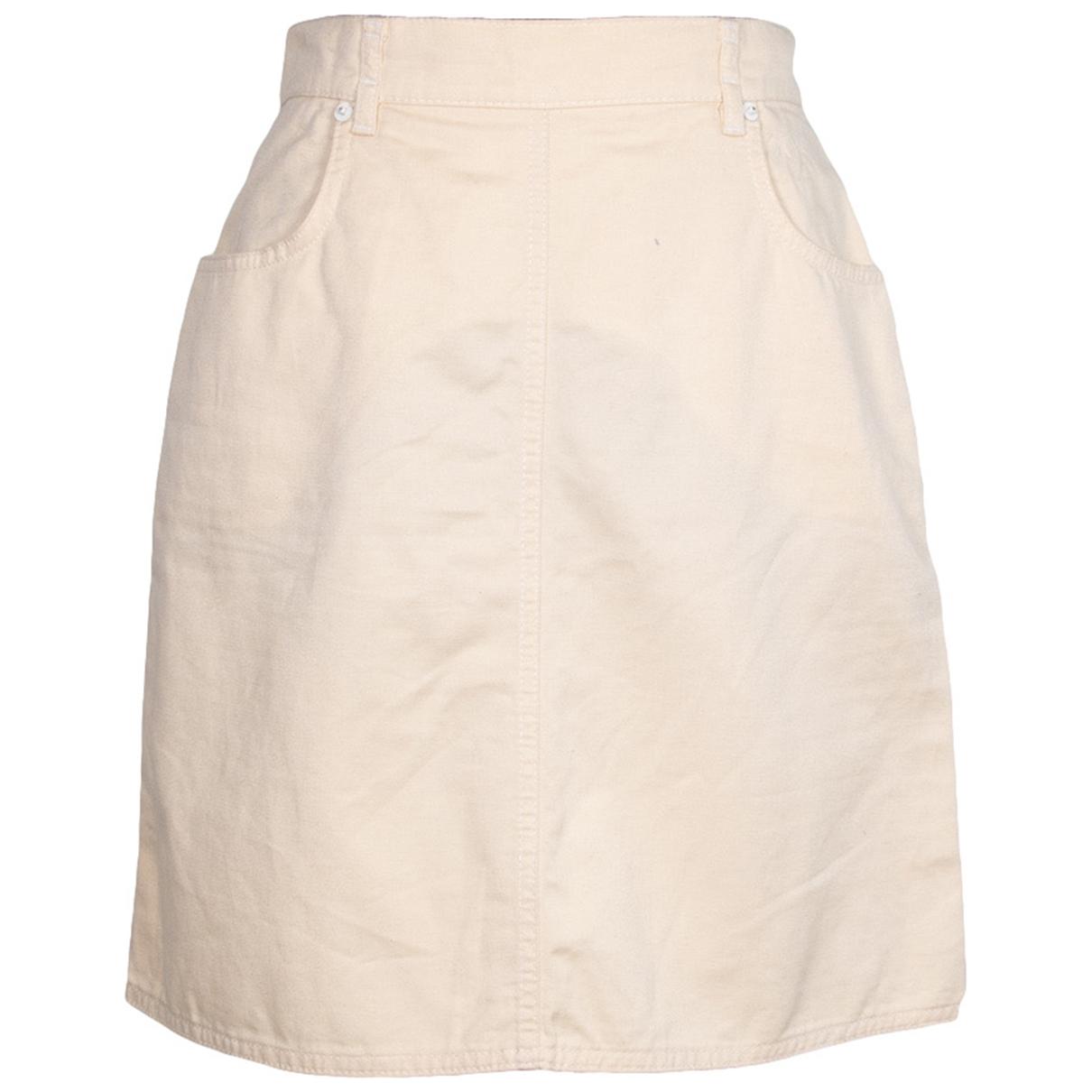 Fendi - Jupe   pour femme en coton - beige