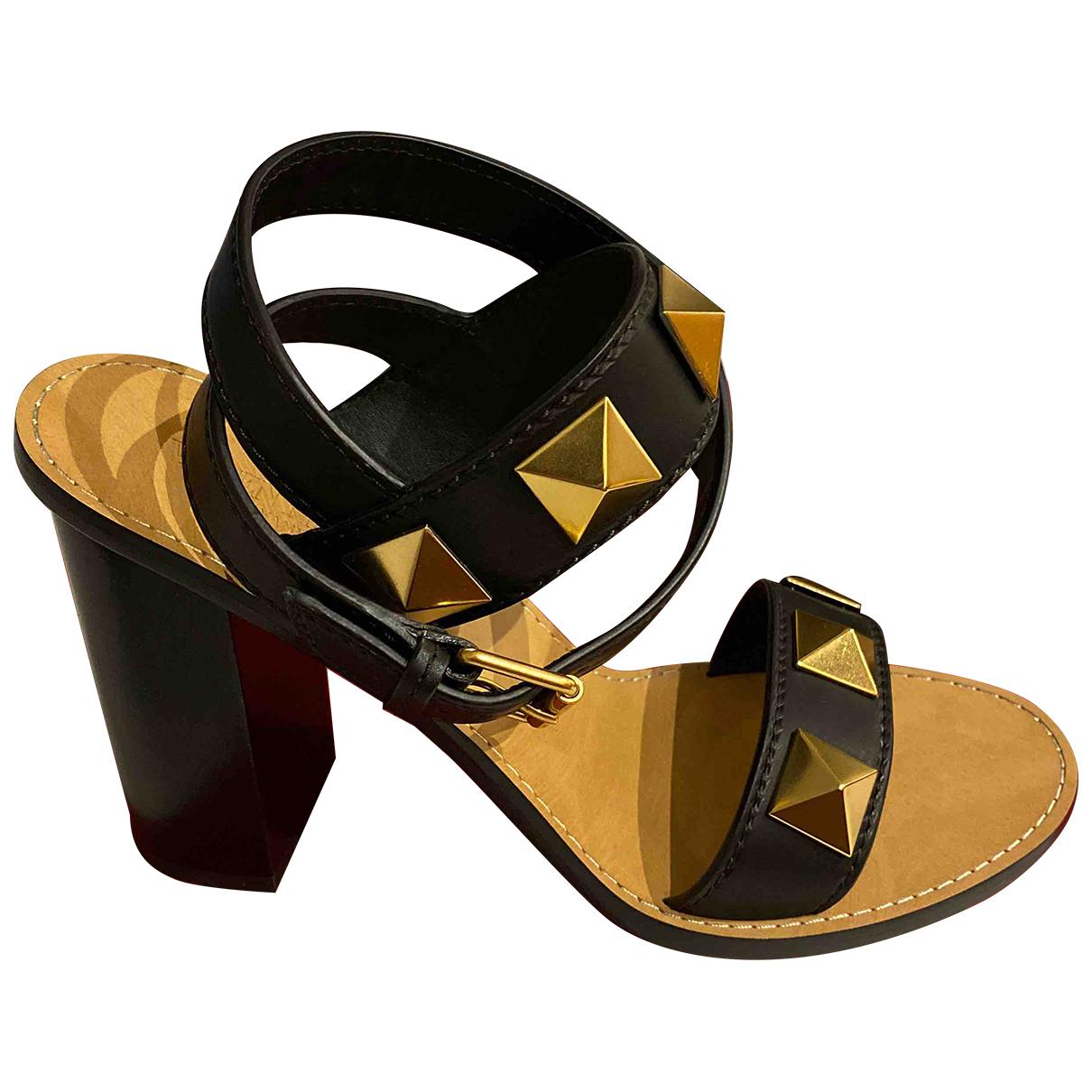 Valentino Garavani N Black Fur Sandals for Women 39.5 EU
