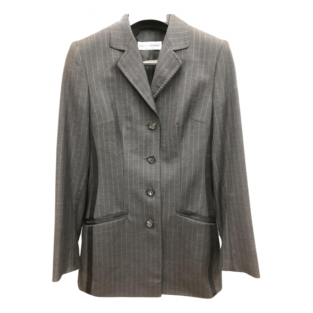 Dolce & Gabbana \N Grey Wool jacket for Women 38 IT