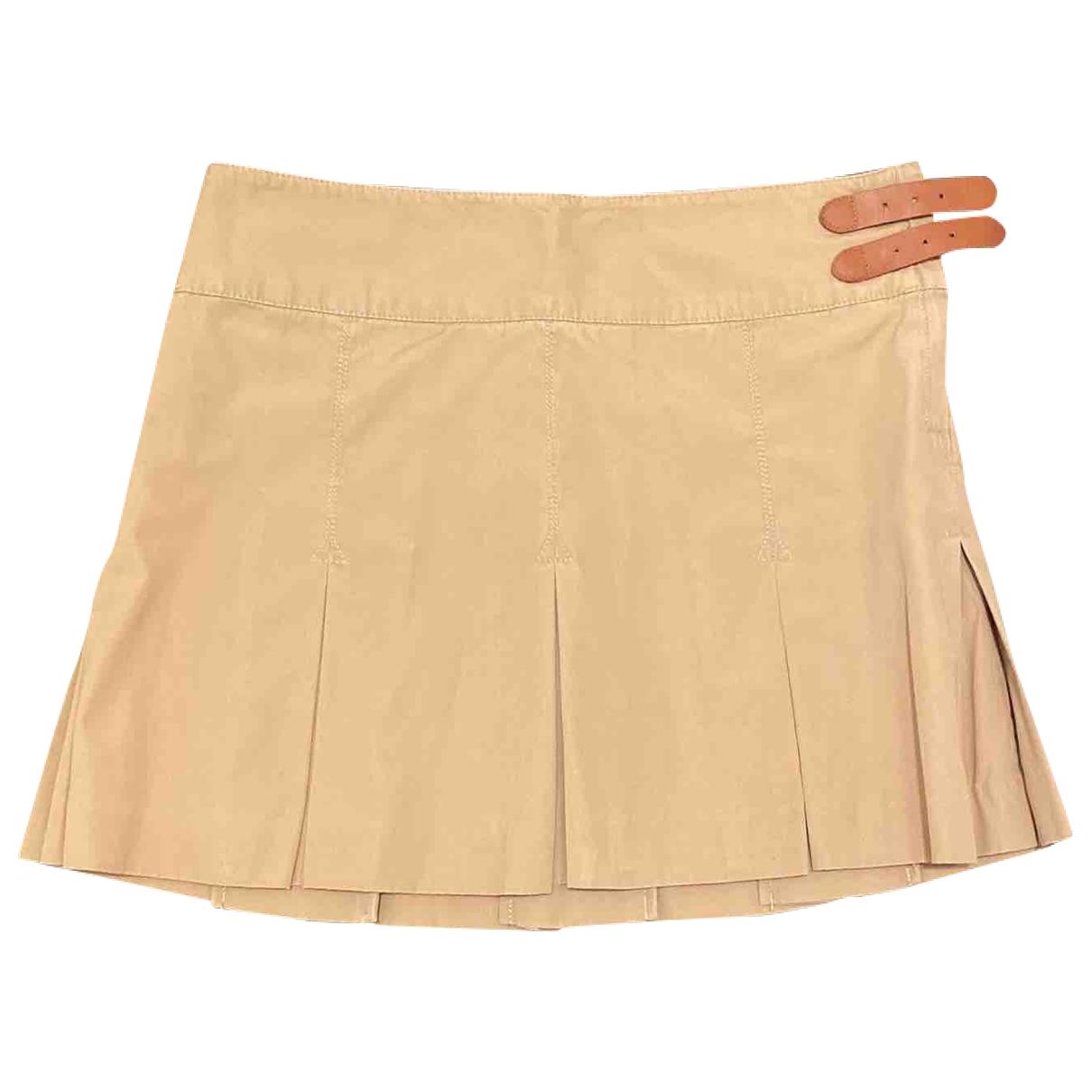 Polo Ralph Lauren \N Beige Cotton skirt for Women 2 US