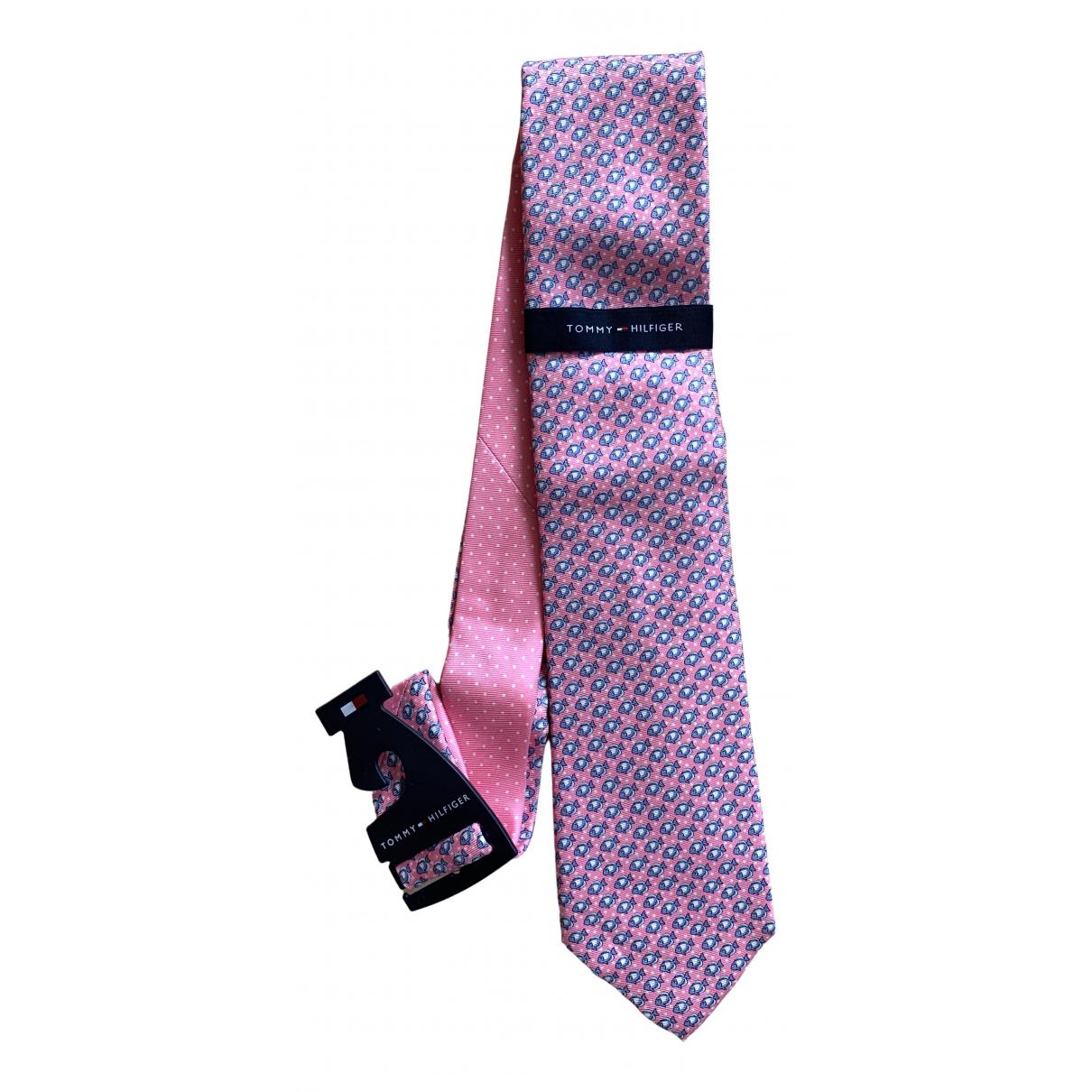 Tommy Hilfiger \N Krawatten in  Rosa Seide