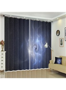 The Black Holes and Galaxy Outer Space 3D Curtains
