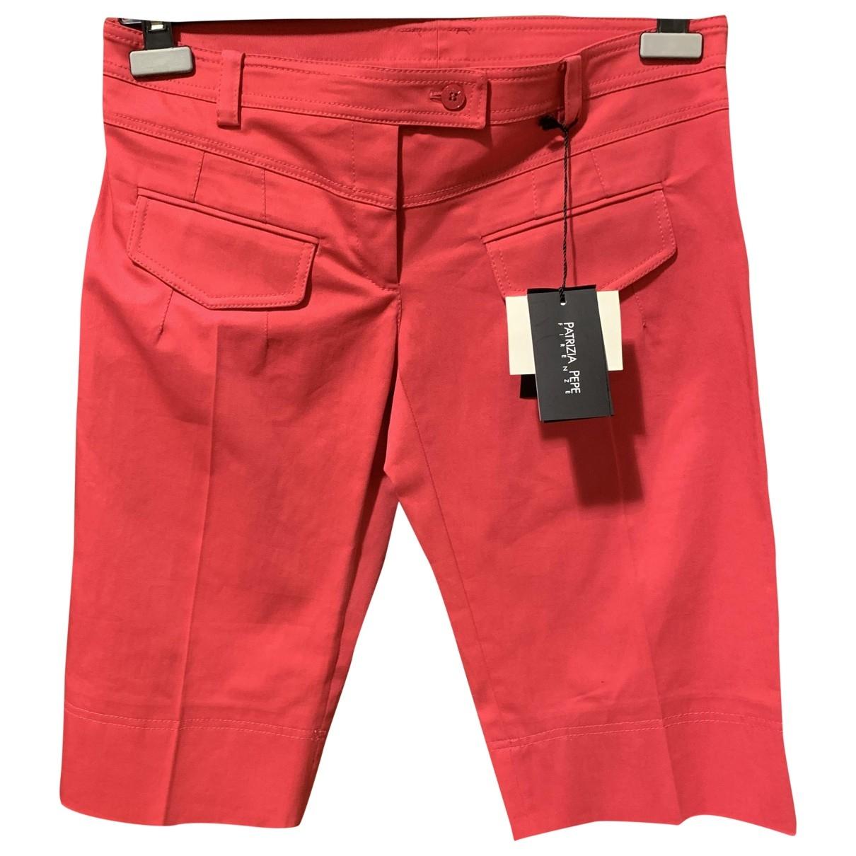 Patrizia Pepe - Short   pour femme en coton - rouge