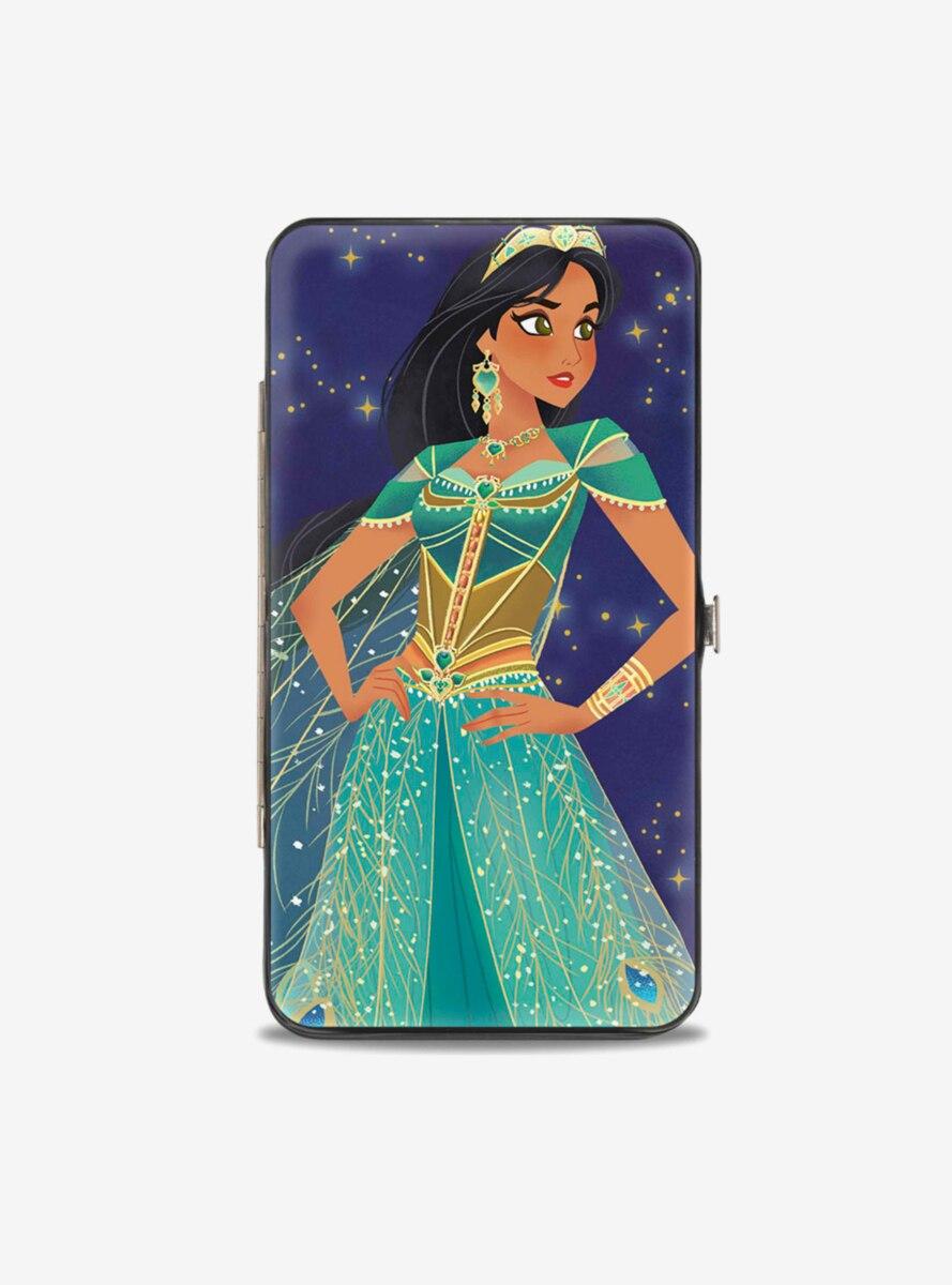 Disney Jasmine Standing Pose Stars Hinged Wallet
